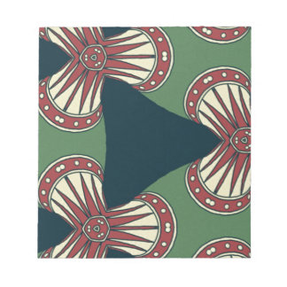 Green Triangles Notepad