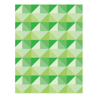 Green Triangles Postcard
