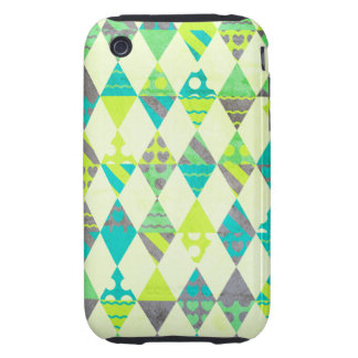Green Triangles Tough iPhone 3 Case