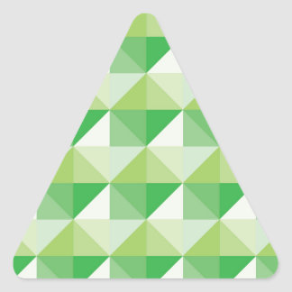 Green Triangles Triangle Sticker