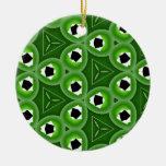 Green Triangular Circle Ornament