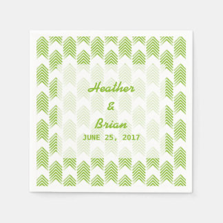 Green Tribal Arrows Paper Napkins
