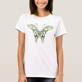 Green Tribal Butterfly Tattoo T-Shirt