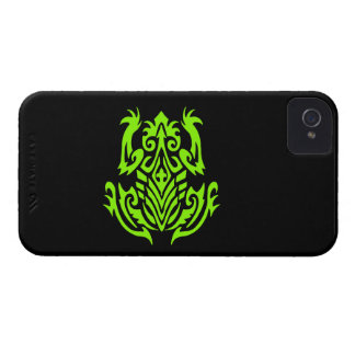 Green Tribal Frog Silhouette Case-Mate iPhone 4 Cases