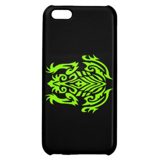Green Tribal Frog Silhouette Case For iPhone 5C