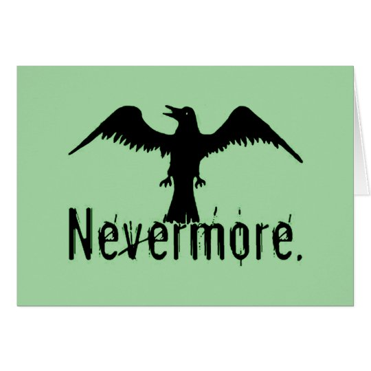 Green Tribal Raven Nevermore Card