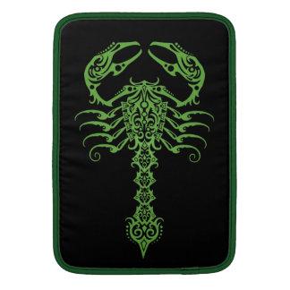 Green Tribal Scorpion MacBook Air Sleeves
