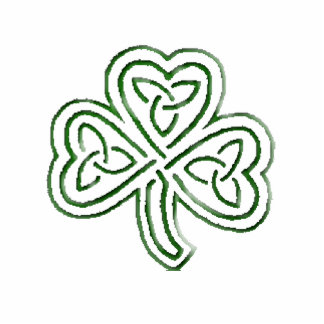 green tribal shamrock ornament
