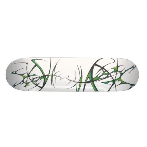 Green tribal skateboard