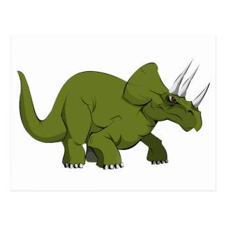 Green Triceratops Dinosaur Postcard