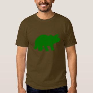 Green Triceratops Dinosaur Silhouette T Shirt