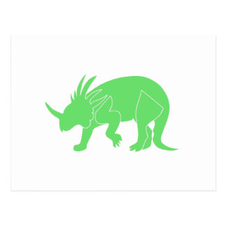 Green Triceratops Postcards
