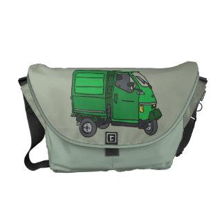 Green Tricycle Van (Foodtruck) Courier Bag