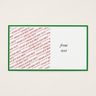 Green Trimmed Border Template Business Card