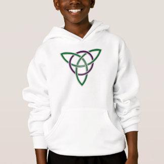 Green Trinity Knot Kids Hoodie