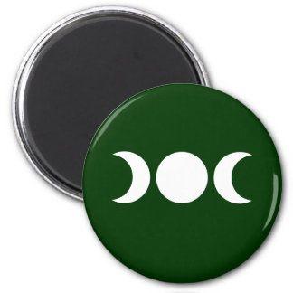 Green Triple Goddess 2 Inch Round Magnet