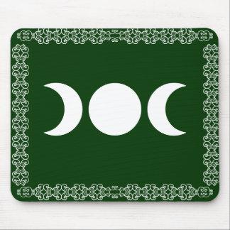 Green Triple Goddess Mouse Pad