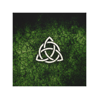 Green Triquetra Canvas Print