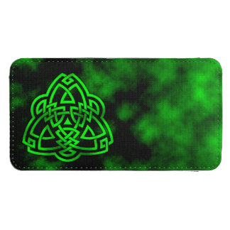 Green Triquetra Knot Galaxy S4 Pouch