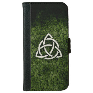 Green Triquetra Wallet Phone Case For iPhone 6/6s