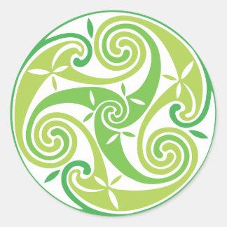 Green triskel sticker