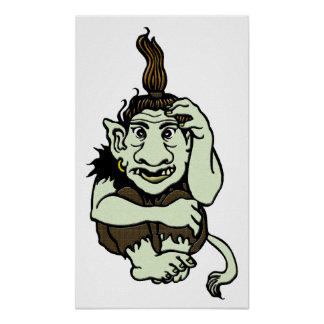 Green Troll Poster