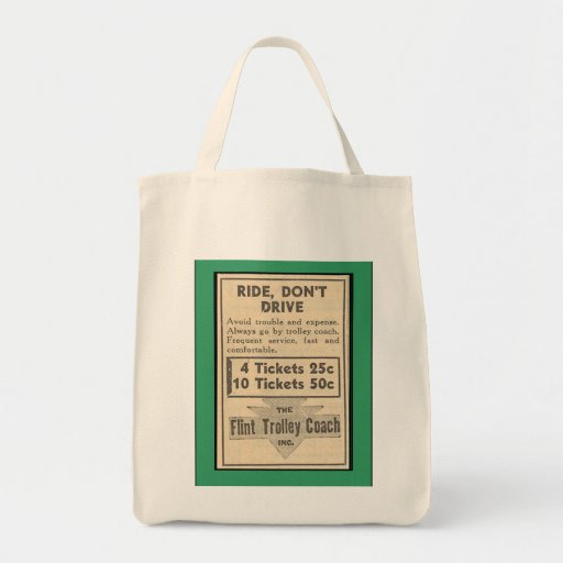 Green trolley canvas bags