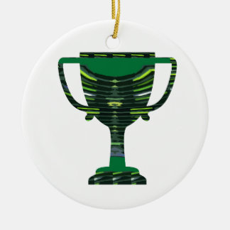 GREEN Trophy Award Cup Environment NVN250 fun Christmas Ornaments