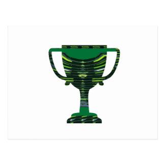 GREEN Trophy Award Cup Environment NVN250 fun Post Card