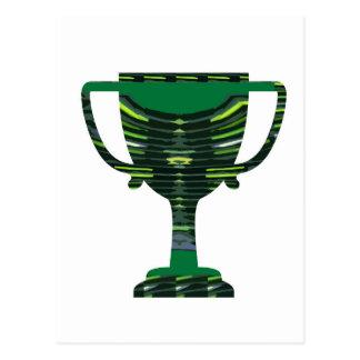 GREEN Trophy Award Cup Environment NVN250 fun Postcard