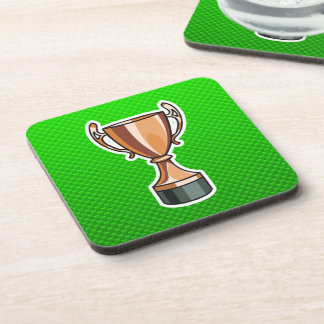 Green Trophy Drink Coaster