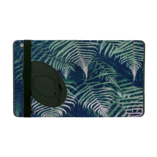 Green Tropical Fern Leaves Natural Pattern iPad Folio Cases