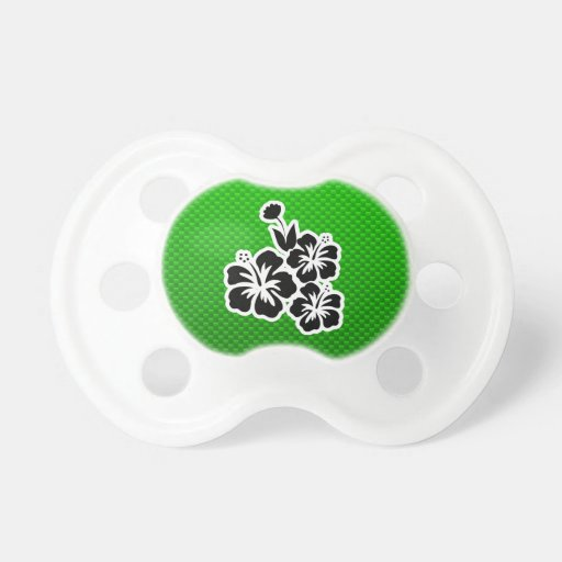 Green Tropical Flowers Baby Pacifiers