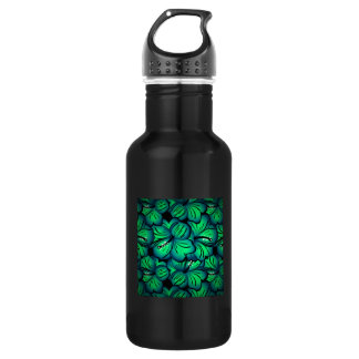 Green Tropical Hibiscus Flower design 18oz Water Bottle