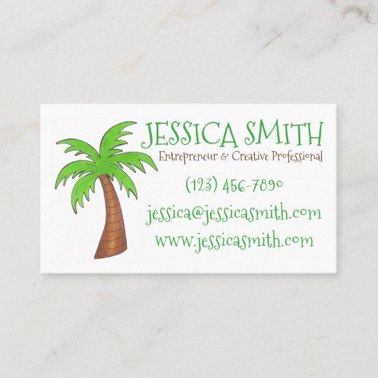 Green tropical island beach palm tree palmtree business card green tropical island beach palm tree palmtree business card colourmoves