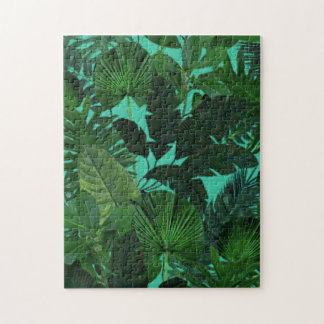Green Tropical Leaf Pattern Puzzle