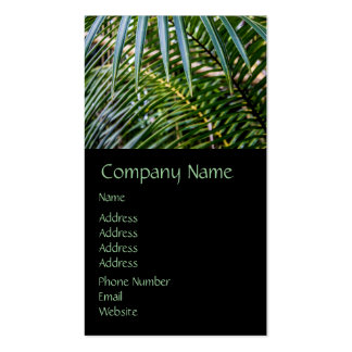 Green Tropical Leaves Double-Sided Standard Business Cards (Pack Of 100)