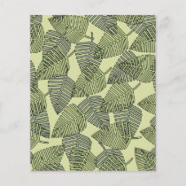 Green Tropical Leaves Pattern.