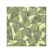 Green Tropical Leaves Pattern. Canvas Print
