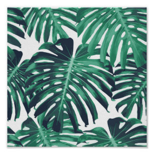 Tropical Leaves Pattern Posters Prints Zazzle Get ready for a heat wave, because palm fronds,ferns, and other flamboyant foliage are the new favorites of the design set. tropical leaves pattern posters