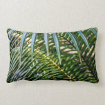Green Tropical Leaves Throw Pillow