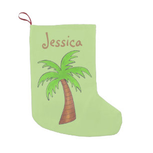 tropical Christmas stocking palm tree decor plant stocking tree Christmas Palm tree stocking beach Christmas decor warm Christmas