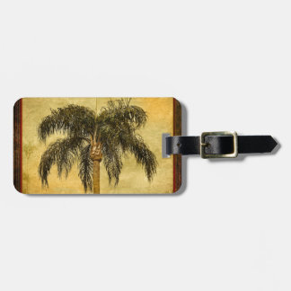 Green Tropical Palm Tree Hawaiian Vintage Palms Luggage Tag