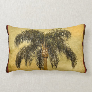 Green Tropical Palm Tree Hawaiian Vintage Palms Throw Pillow