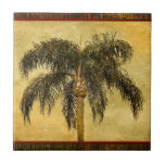 """Green Tropical Palm Tree Hawaiian Vintage Palms Tile<br><div class=""""desc"""">Use our cool template, artwork, photo, graphic, or illustration, then add a name, text, quote, or monogram to create your own custom or monogrammed photo trivet. Click the &quot;Customize it!&quot; button to make it totally customized. These photo tiles are great gifts for men, women, and kids (and you, too, of...</div>"""