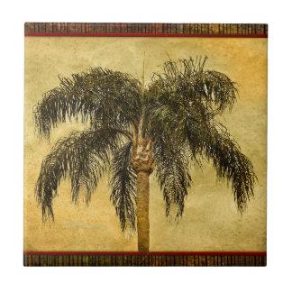 Green Tropical Palm Tree Hawaiian Vintage Palms Ceramic Tile