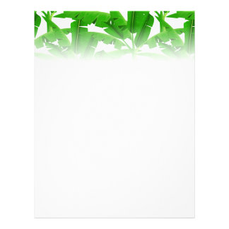 Green tropical palm trees flyer