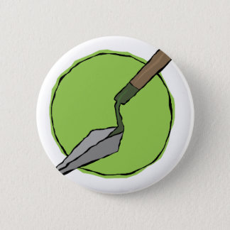 Green Trowel - Archaeologist's Toolkit Pinback Button