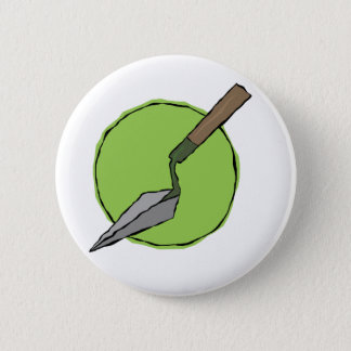 Green Trowel Badge - Archaeologist's Tool Kit Button