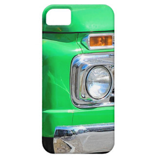 Green Truck Headlight Closeup Photo iPhone Case